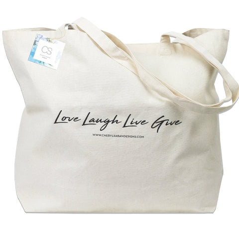 Canvas Bag Love Laugh Live Give