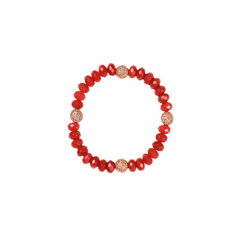 Amor Coral Stretchy Bracelets set of 2