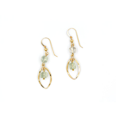 Green Amethyst Drop Earring