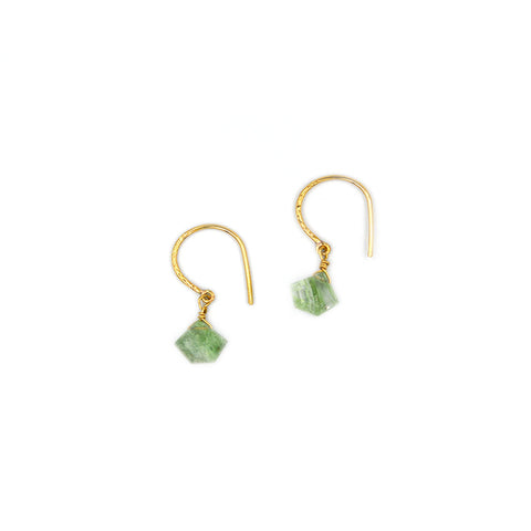 Green Rutilite Drop Earring