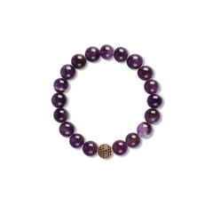 Isabelle Stretchy Bracelet With Purple CZ