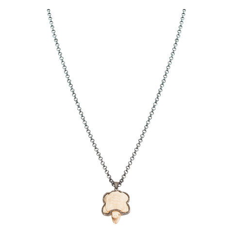 Pave Diamond and Bone Turtle