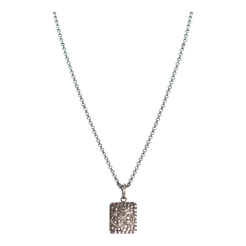 Pave Diamond Ohm Pendant