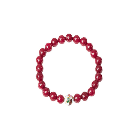 Rough Ruby Stretchy Bracelet