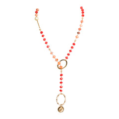 Rough Ruby Lariat Strand