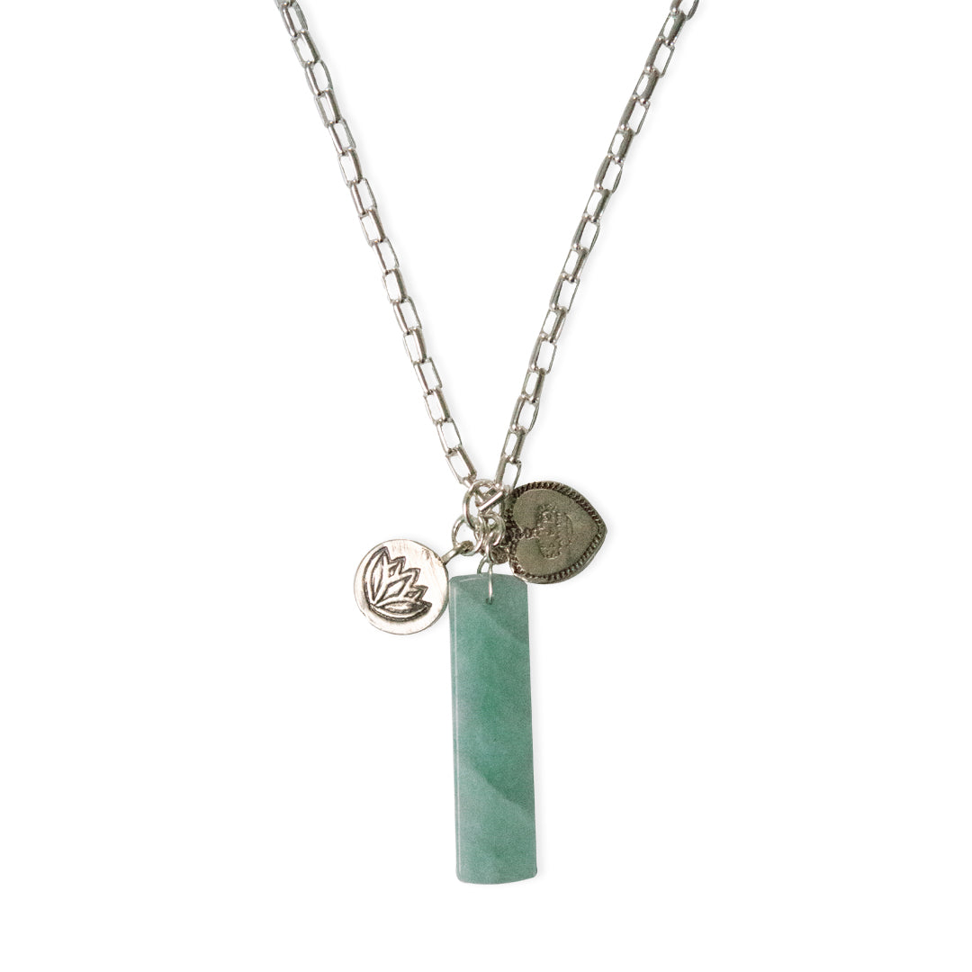 Aquamarine Pendant with Rutilated Quartz