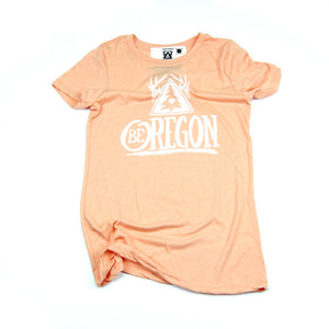 Women's Be Oregon Peach Crew