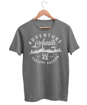 Men's Adventure Awaits Crew Heather Grey