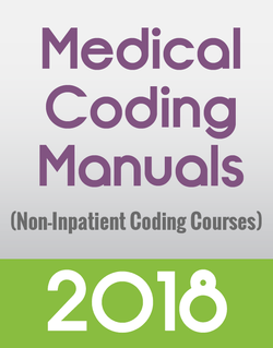 Manuals Only for Non Inpatient Coding Courses
