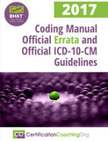 Coding Manual Official Errata and Official ICD-10-CM Guidelines - 2017