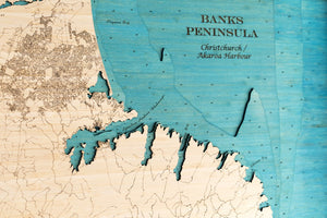 3D Wooden Chart - Banks Peninsula