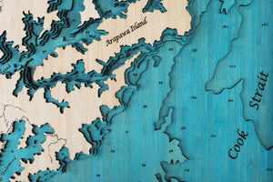 3D Wooden Chart - Marlborough Sounds