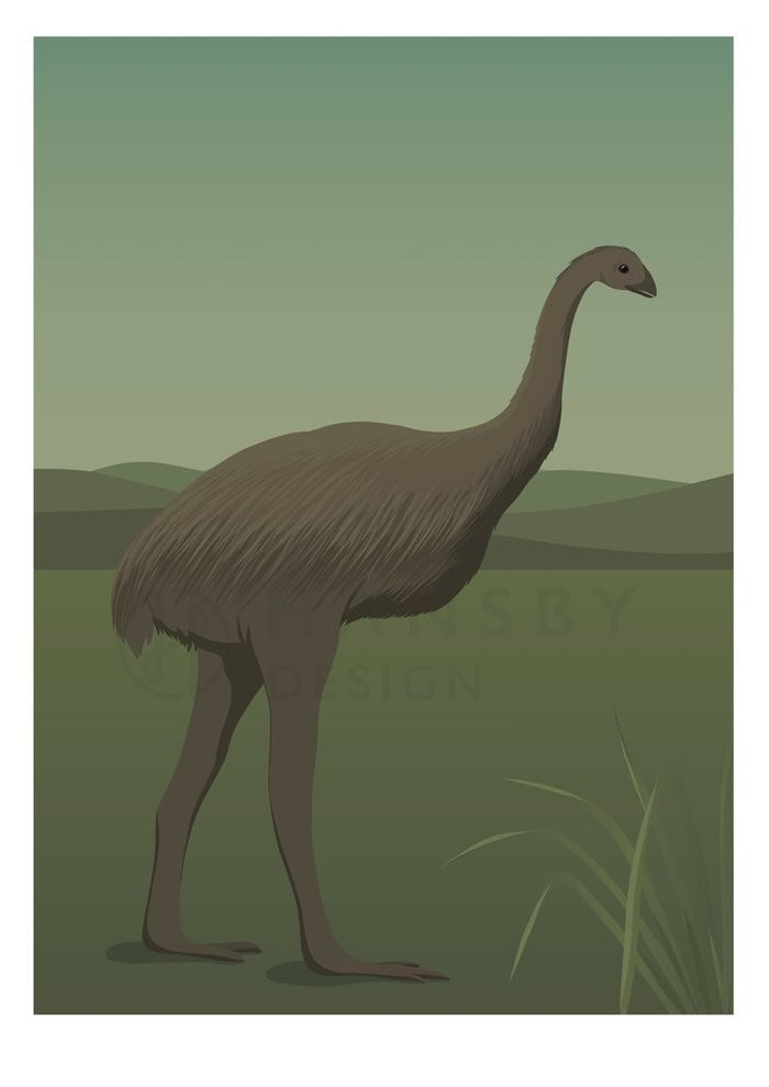Cathy Hansby Print - Giant Moa