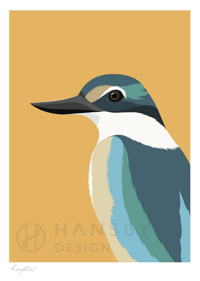 Cathy Hansby Print - Kingfisher