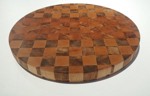 Chequered End Grain Wooden Food Board