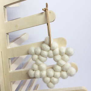 Felt Ball Christmas Decoration
