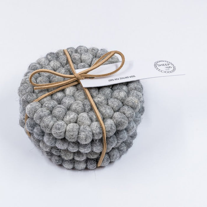 Felt Ball Coasters (Set of 4)