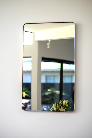 Outline Rectangle Wall Mirror