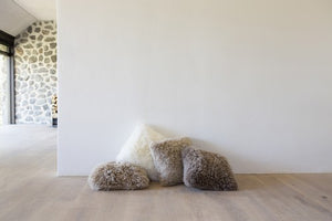 Shaggy Sheepskin Cushion