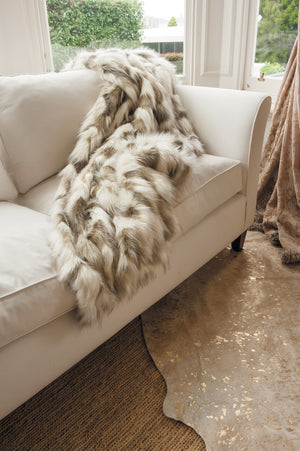 Heirloom Faux Fur Throw