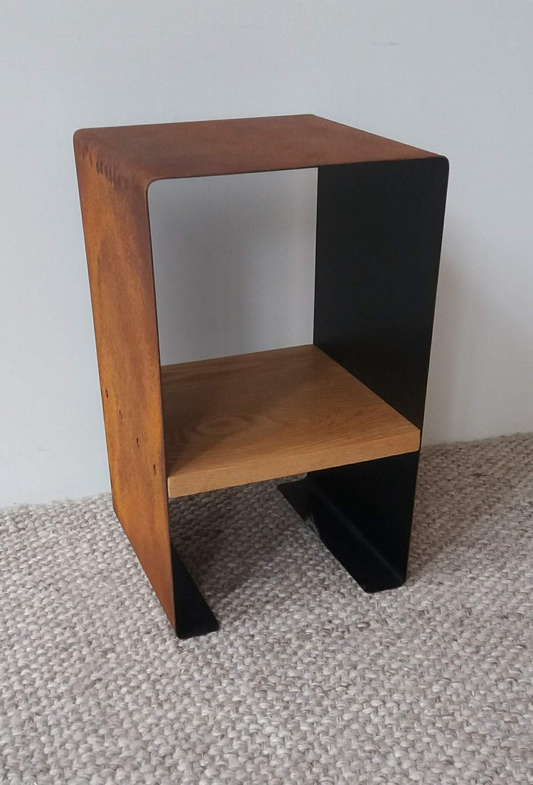 Steel + Oak Side Table
