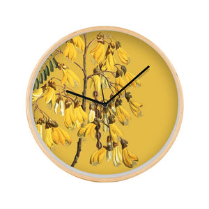 Vintage Botanical Clock