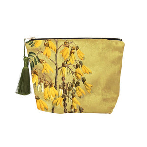 Velvet Vintage Botanical Zipped Bag