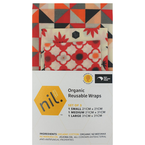 nil. Organic Reusable Wraps (Set of 3)