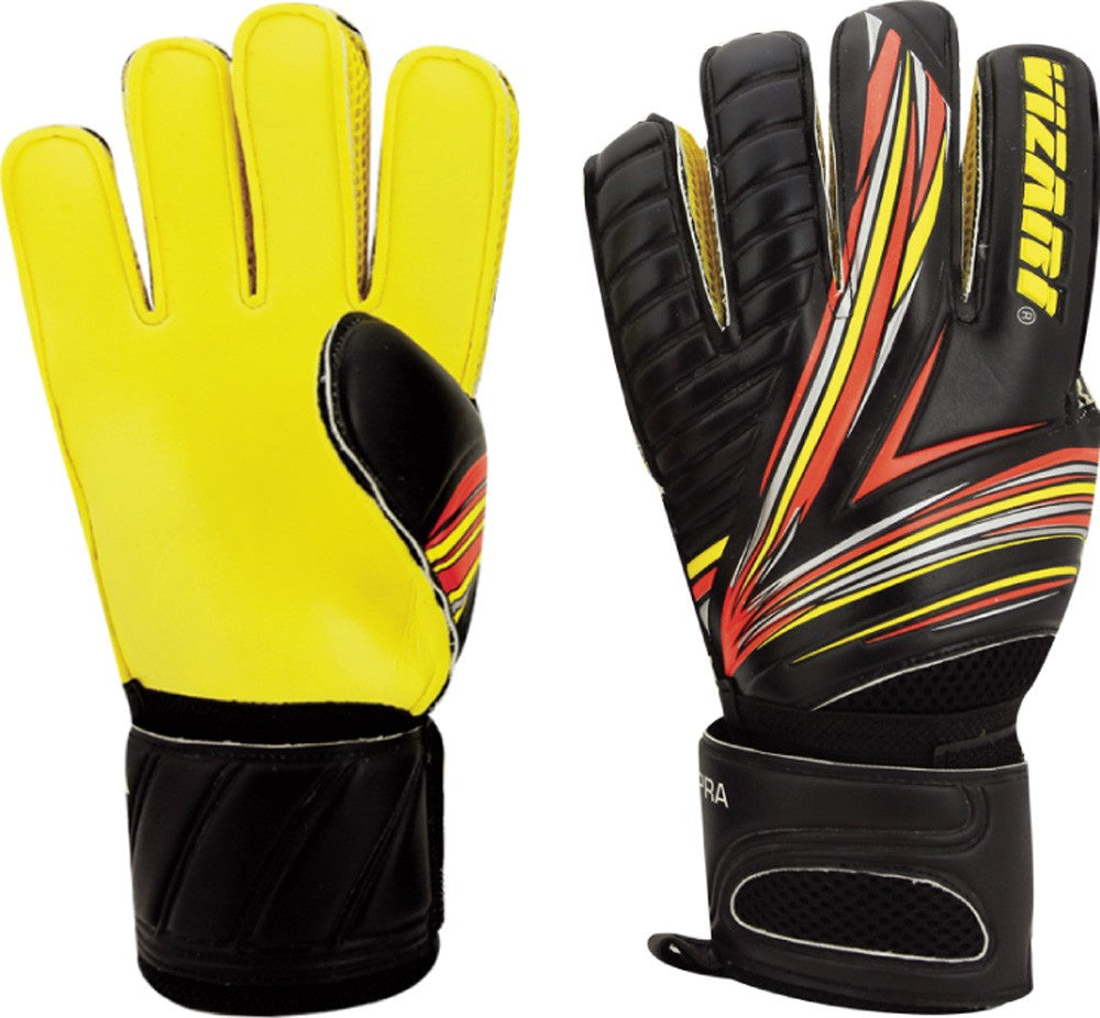 Vizari Supra (FRF) Goalkeeper Gloves Black/Yellow