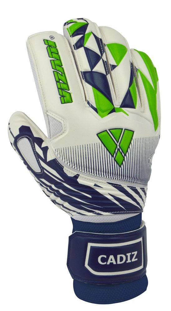 Gk Gloves Cadiz Finger Protectio White/Navy/Green