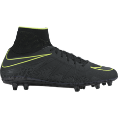 Men's Nike HyperVenom Phantom II (FG) Firm-Ground Football Boot Black Or Grey