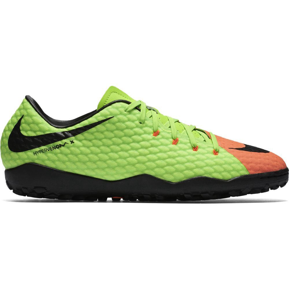 Nike HypervenomX Phelon III TF Electric Green/Black/Orange