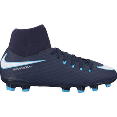 Kids' Nike Jr. Hypervenom Phelon III Dynamic Fit (FG) Firm-Ground Football Boot BLUE