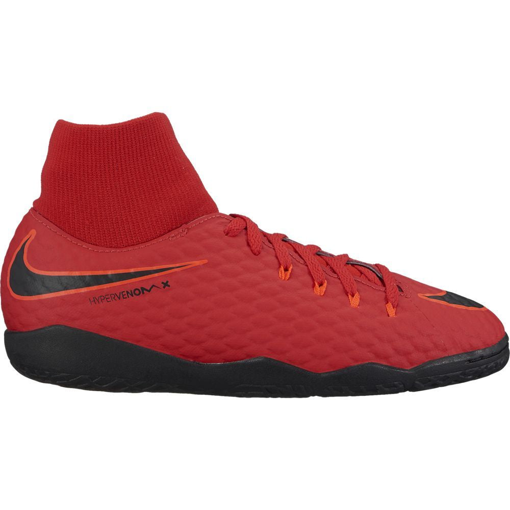 Kids' Nike Jr. HypervenomX Phelon III Dynamic Fit (IC) Indoor/Court Football Boot RED