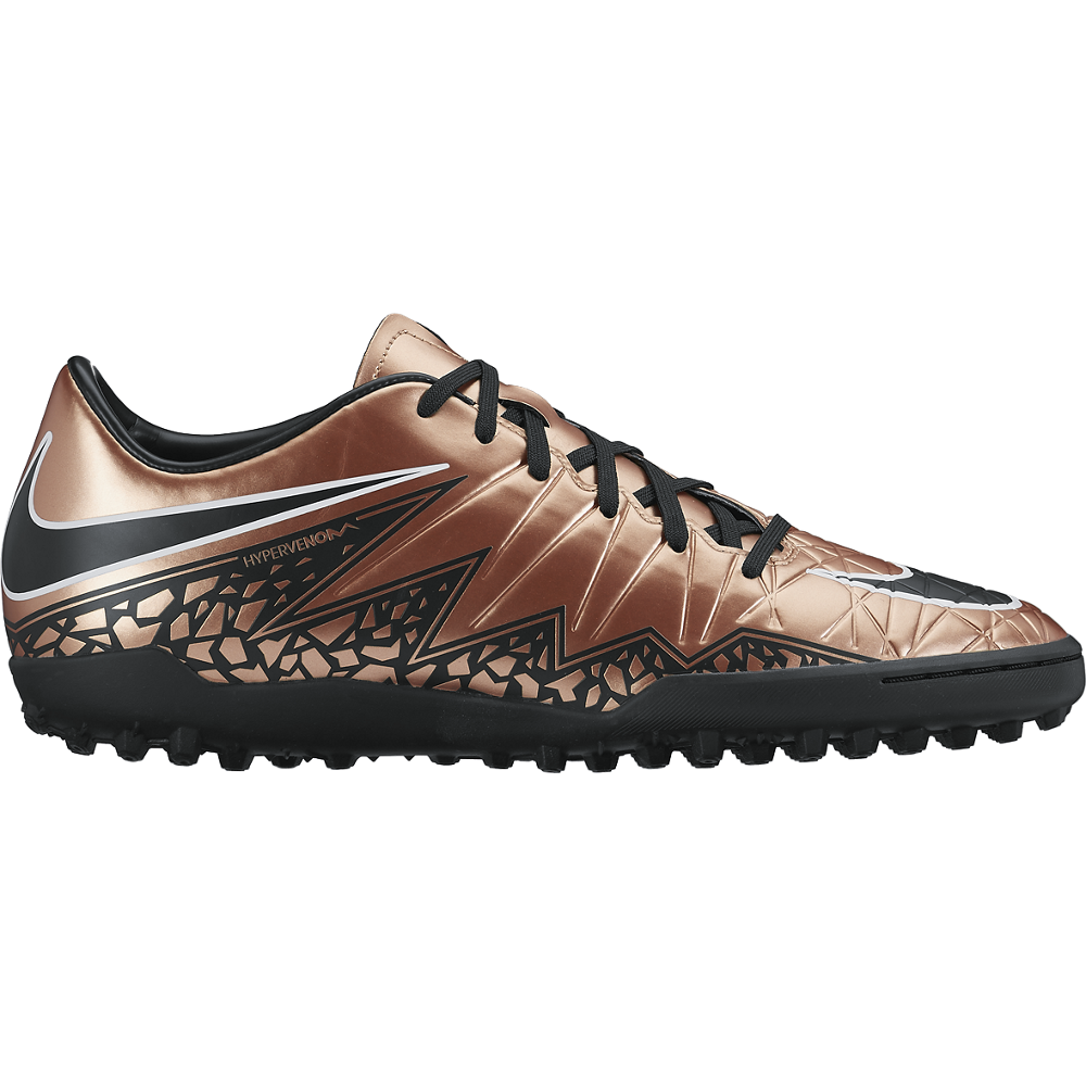 Nike Hypervenom Phelon Ii (Tf) Mtlc Red Bronze/Green Glow//Black