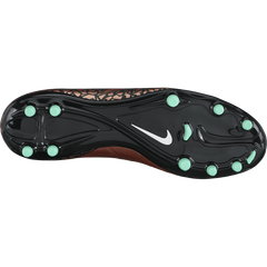 Nike Hypervenom Phelon Ii (Fg) Mtlc Red Bronze/Green Glow//Black