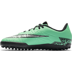 Nike Junior Hypervenom Phelon Ii (Tf) Green Glow/Hyper Orange//Metallic Silver