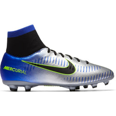 Kids' Neymar Jr. Mercurial Victory VI Dynamic Fit (FG) Firm-Ground Football Boot SILVER