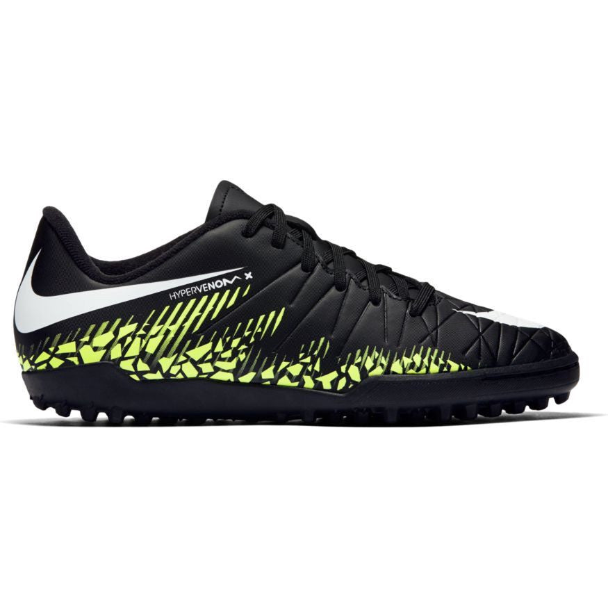 Nike Jr. HyperVenom Phelon II TF Black/White/Volt