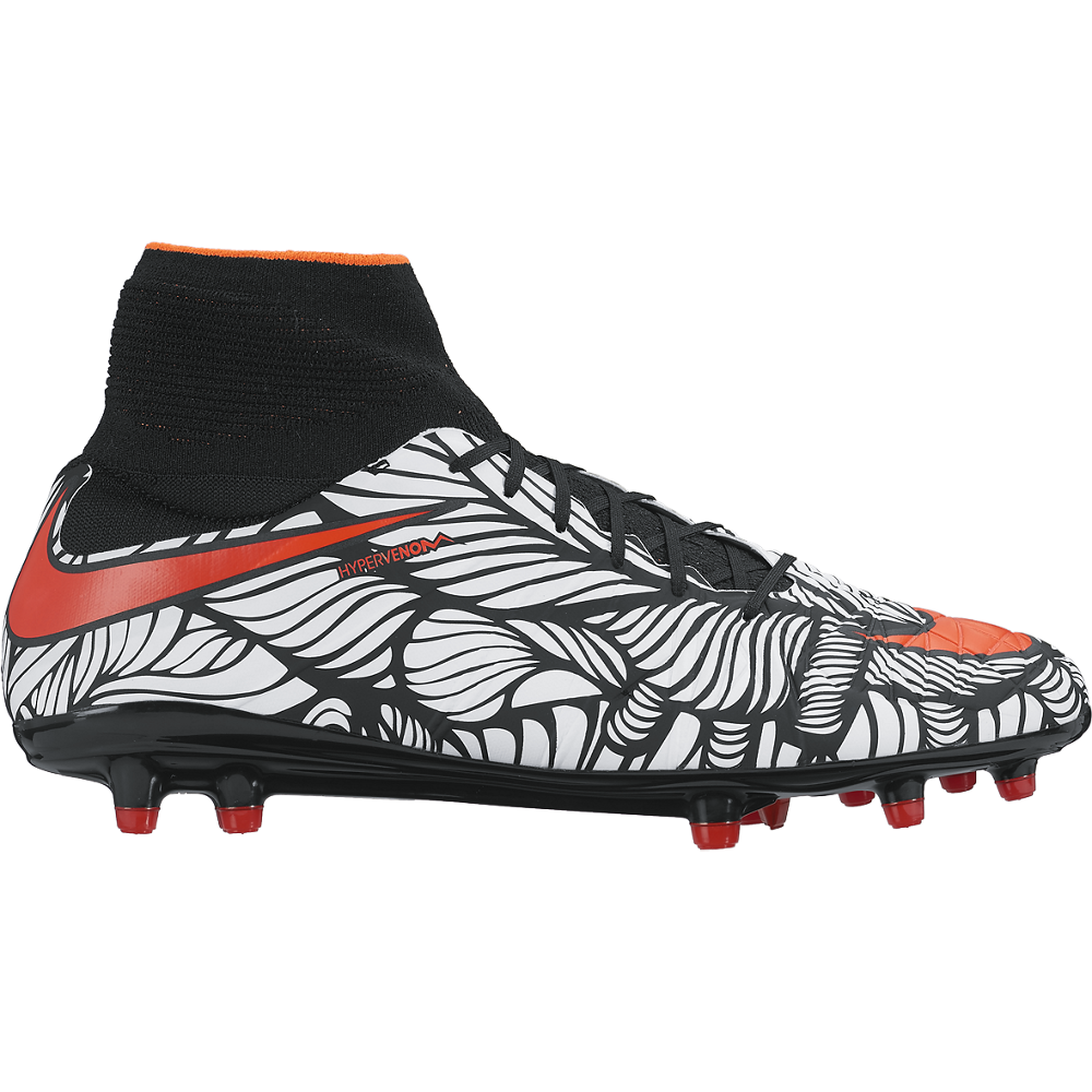 Neymar Hypervenom Phantom Ii (Fg) Firm-Ground Black/White//Bright Crimson