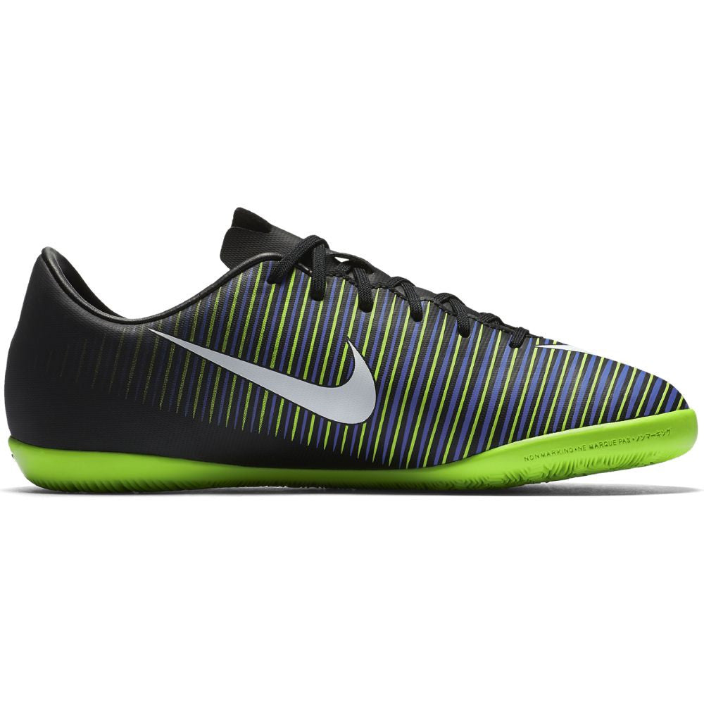 Nike Jr. Mercurial Vapor XI IC Black/White/Green
