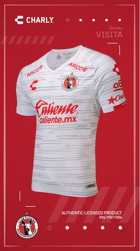 Charly Men's Xolos Away Jerey 19/20 White