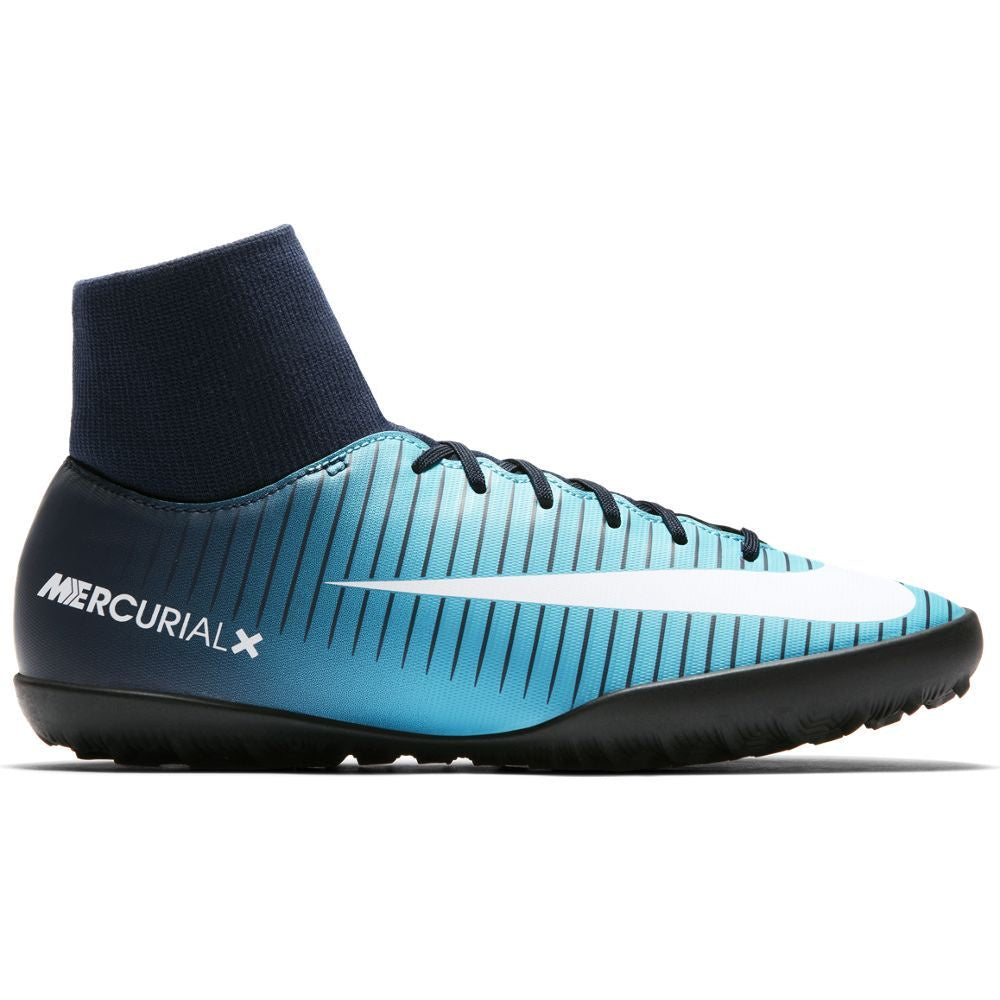 Kids' Nike MercurialX Victory VI CR7 Dynamic Fit (TF) Artificial-Turf Football Boot BLUE