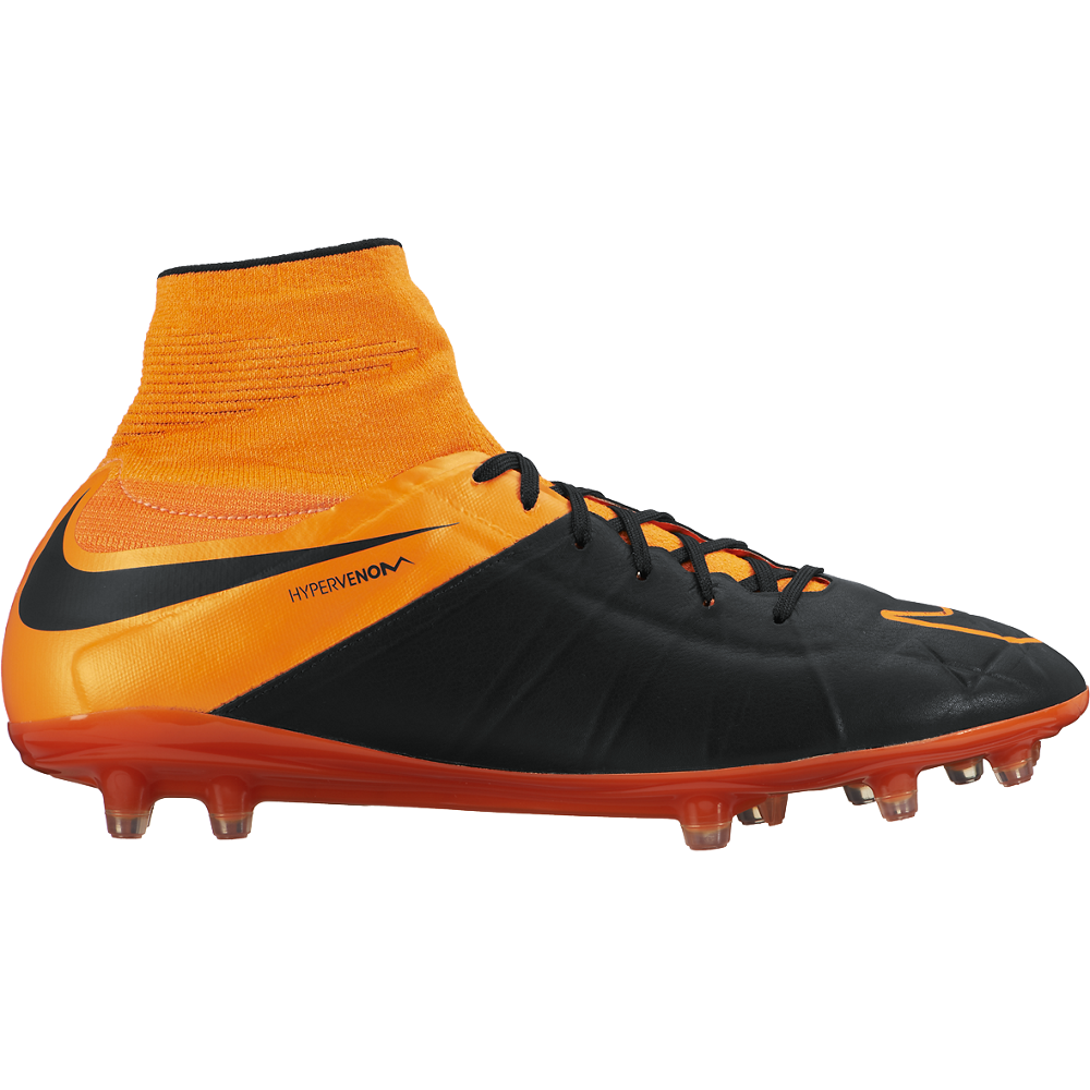 Hypervenom Phantom Ii Lthr Fg Black/Total Orange//Black