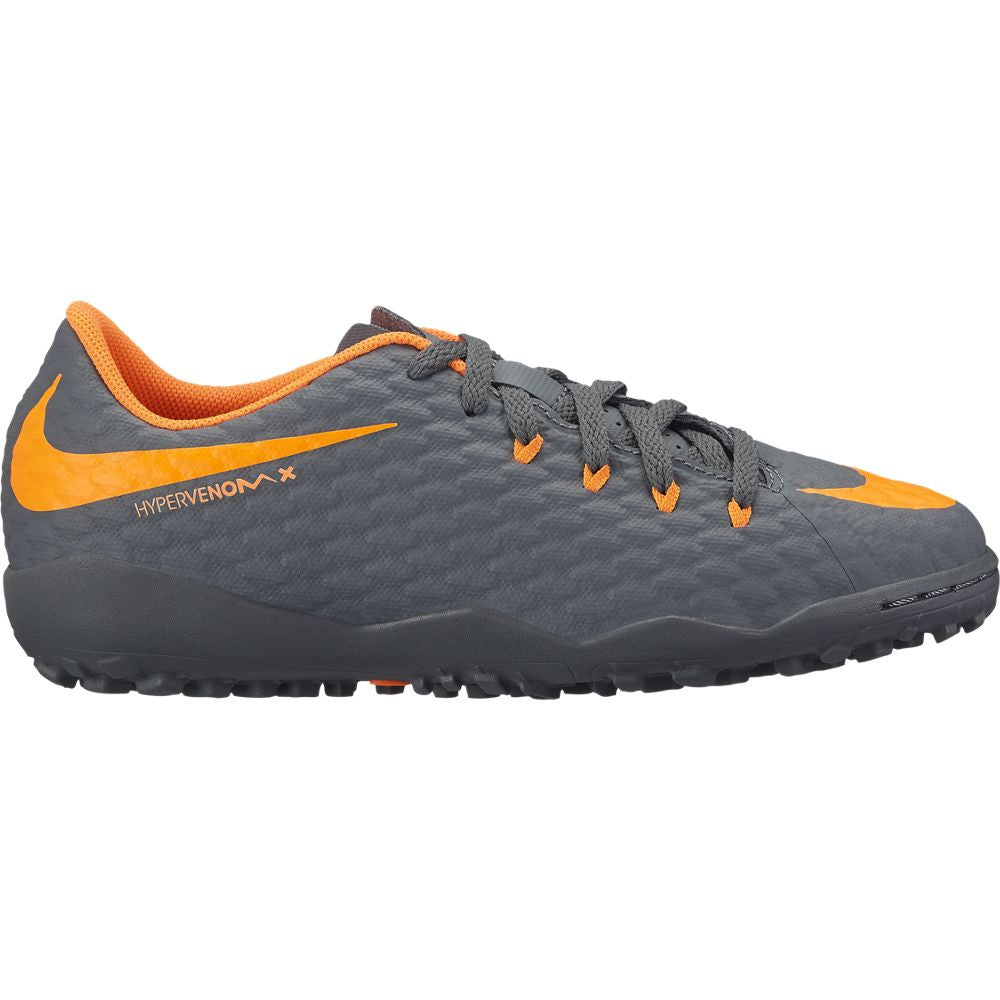 Kid's Nike PhantomX 3 Academy TF Gray/Orange