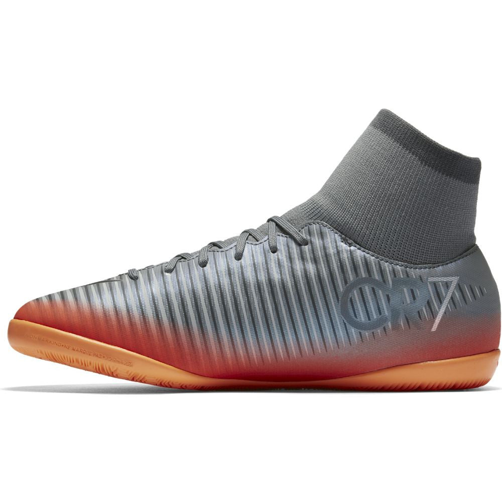 Kids' Nike MercurialX Victory VI CR7 Dynamic Fit (IC) Indoor-Competition Football Boot Gray