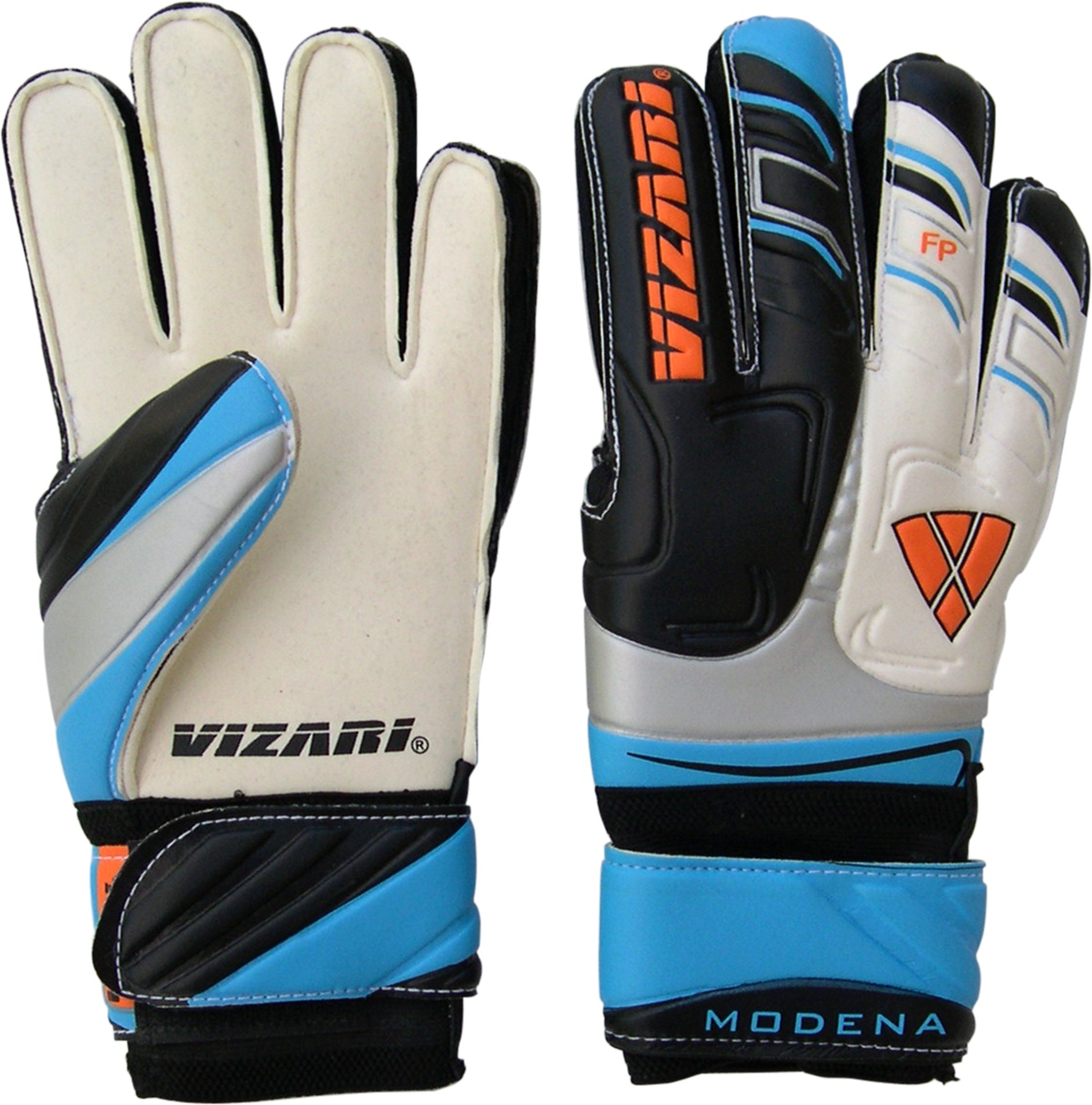 Vizari Modena Goalkeeper Gloves Black/White/Blue