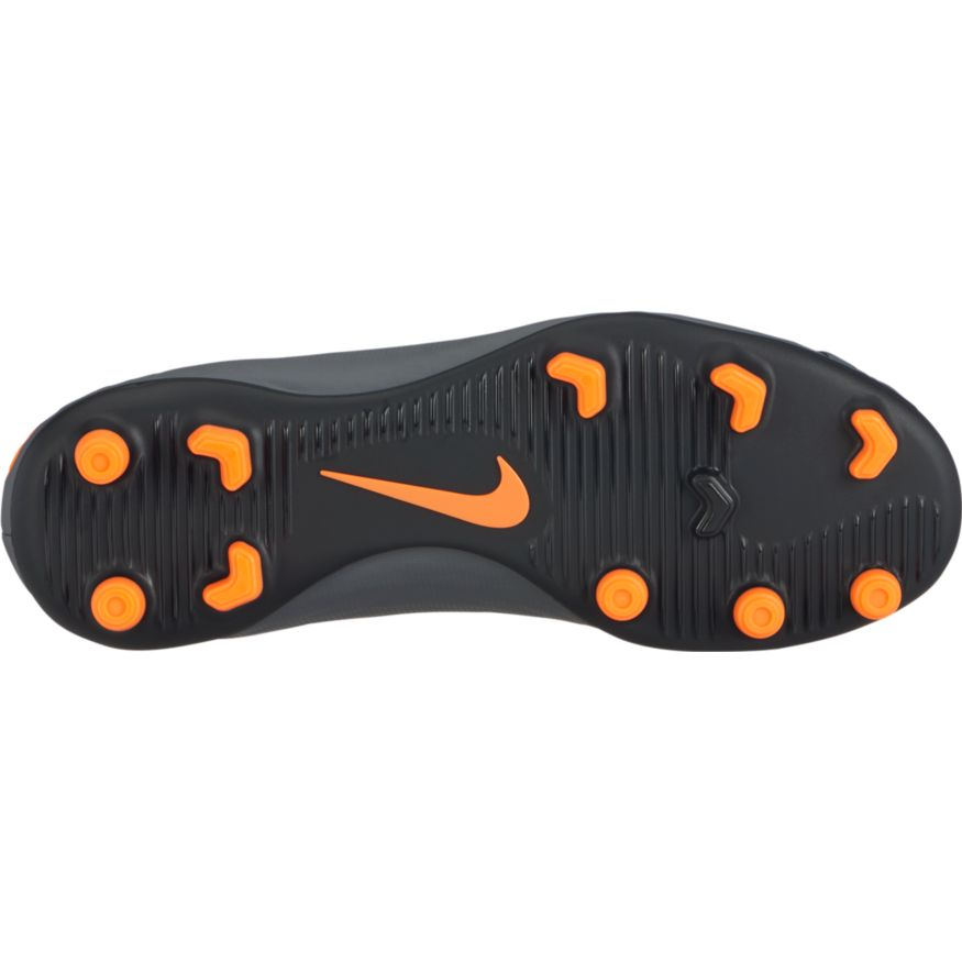 Kids' Nike Jr. Hypervenom Phantom 3 Club FG Gray/Orange