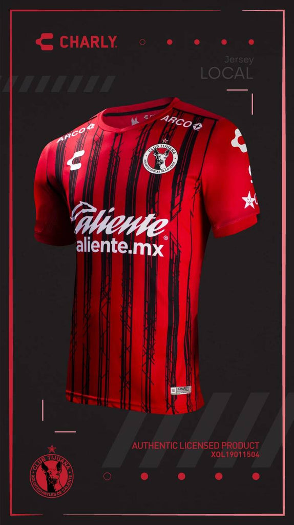 Men's Charly Xolos de Tijuana Home Jersey Red 2019/20