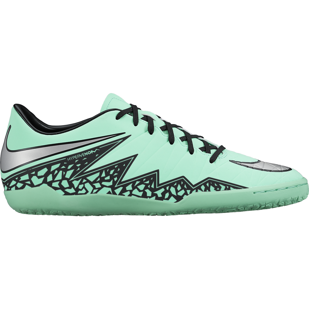 Nike Hypervenom Phelon Ii (Ic) Green Glow/Hyper Orange//Metallic Silver